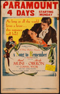 "Movie Posters:Drama, A Song to Remember (Columbia, 1945). Window Card (14"" X 22"").Drama.. ..."
