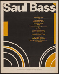 "Saul Bass Event Poster (The Architectural Panel, 1968). Poster (16"" X 20""). Miscellaneous"