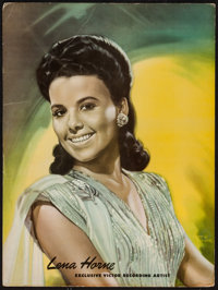 """Lena Horne by Albert Fisher (Victor, 1940s). Commercial Standee (18"""" X 24""""). Miscellaneous"""