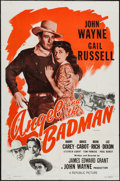 """Movie Posters:Western, Angel and the Badman (Republic, R-1959). One Sheet (27"""" X 41"""").Western.. ..."""