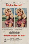 "Movie Posters:Comedy, Babette Goes to War (Columbia, 1960). One Sheet (27"" X 41""), Title Lobby Card, & Lobby Cards (4) (11"" X 14""). Comedy.. ... (Total: 6 Items)"