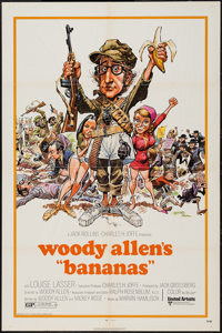 "Bananas Lot (United Artists, 1971). One Sheet (27"" X 41"") & Lobby Card Set of 8 (11"" X 14"")..."