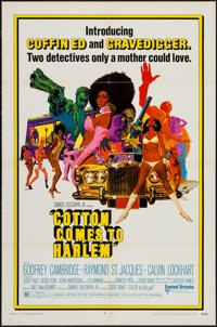 """Cotton Comes to Harlem (United Artists, 1970). One Sheet (27"""" X 41""""), Lobby Card Set of 8 (11"""" X 14""""..."""