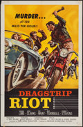 "Movie Posters:Exploitation, Dragstrip Riot (American International, 1958). One Sheet (27"" X41"") & Lobby Card. Exploitation.. ... (Total: 2 Items)"