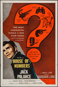 "House of Numbers & Other Lot (MGM, 1957). One Sheets (2) (27"" X 41""). Film Noir. ... (Total: 2 Items)"