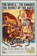 "Movie Posters:Adventure, The Revolt of the Slaves (United Artists, 1961). One Sheet (27"" X41"") & Lobby Card Set of 8 (11"" X 14""). Adventure.. ... (Total:9 Items)"