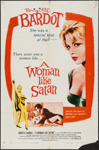 "A Woman Like Satan (Lopert, 1959). One Sheet (27"" X 41""). Bad Girl"