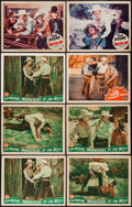 """Movie Posters:Western, Wanderers of the West & Others Lot (Monogram, 1941). Lobby Cards (6) (11"""" X 14"""") & Trimmed Lobby Card (10.5"""" X 13""""). Western... (Total: 7 Items)"""