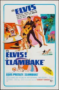 "Clambake (United Artists, 1967). One Sheet (27"" X 41""). Elvis Presley"