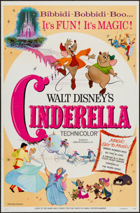 "Cinderella (Buena Vista, R-1973). One Sheet (27"" X 41""). Animation"