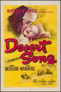 "The Desert Song (Warner Brothers, 1943). One Sheet (27"" X 41""). Musical"