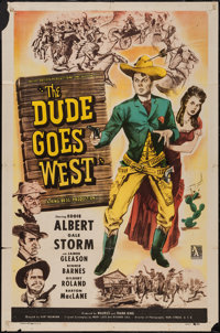 """The Dude Goes West (Allied Artists, 1948). One Sheet (27"""" X 41""""). Western"""
