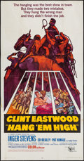 "Movie Posters:Western, Hang 'Em High (United Artists, 1968). Three Sheet (41"" X 79"").Western.. ..."