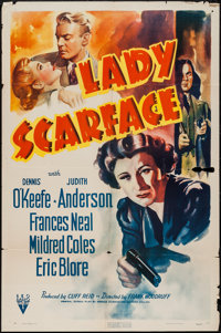 "Lady Scarface (RKO, 1941). One Sheet (27"" X 41""). Crime"
