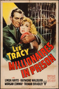 "Movie Posters:Drama, Millionaires in Prison (RKO, 1940). One Sheet (27"" X 41""). Drama.. ..."