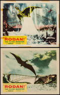 "Movie Posters:Science Fiction, Rodan! The Flying Monster (Toho/ DCA, 1957). Lobby Cards (2) (11"" X14""). Science Fiction.. ... (Total: 2 Items)"