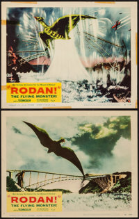 "Rodan! The Flying Monster (Toho/ DCA, 1957). Lobby Cards (2) (11"" X 14""). Science Fiction. ... (Total: 2 Items..."