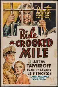 """Ride a Crooked Mile (Paramount, 1938). Other Company One Sheet (27"""" X 41""""). Drama"""