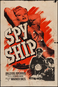 """Spy Ship & Other Lot (Warner Brothers, 1942). One Sheets (2) (27"""" X 41""""). War. ... (Total: 2 Items)"""