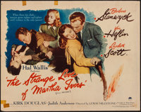 "The Strange Love of Martha Ivers (Paramount, 1946). Half Sheet (22"" X 28"") Style A. Film Noir"