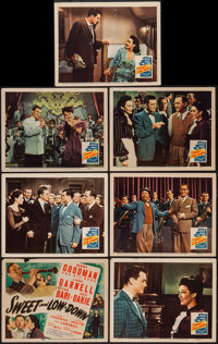 """Sweet and Low-Down (20th Century Fox, 1944). Title Lobby Card and Lobby Cards (6) (11"""" X 14""""). Musical. ... (T..."""