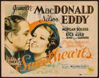 """Sweethearts (MGM, 1938). Title Lobby Card (11"""" X 14""""). Musical"""