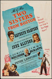 """Two Sisters from Boston (MGM, 1946). One Sheet (27"""" X 41""""). Comedy"""