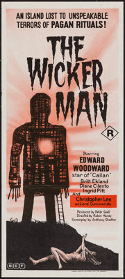 "The Wicker Man (BEF, 1974). Australian Daybill (13"" X 30""). Horror"