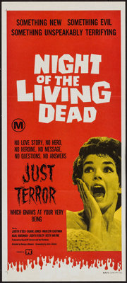 "Night of the Living Dead (Seven Keys, 1970). First Release Australian Daybill (13"" X 30""). Horror"