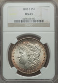 Morgan Dollars: , 1898-S $1 MS63 NGC. NGC Census: (590/727). PCGS Population(1118/1634). Mintage: 4,102,000. Numismedia Wsl. Price for probl...