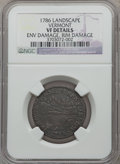 Colonials, 1786 COPPER Vermont Copper, VERMONTENSIUM -- Rim Damaged,Environmental Damage -- NGC Details. VF. NGC Census: (4/44).PCGS...