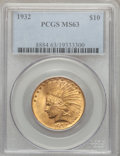 Indian Eagles: , 1932 $10 MS63 PCGS. PCGS Population (18929/10410). NGC Census:(24574/14264). Mintage: 4,463,000. Numismedia Wsl. Price for...