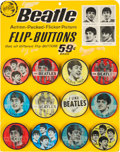 Music Memorabilia:Memorabilia, Beatles Original Flasher Buttons Counter Display Complete with Twelve Buttons (Saymore, circa 1964). ... (Total: 2 Items)