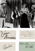 "Movie/TV Memorabilia:Autographs and Signed Items, Star Autographs from ""Gunsmoke.""..."