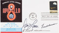 Autographs:Celebrities, Apollo 8 Crew-Signed First Day Cover Originally from the PersonalCollection of Astronaut Walt Cunningham, Signed and Certifie...