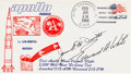 Autographs:Celebrities, [Gemini 4] Apollo AS-201 Launch Cover Signed by Ed White II and JimMcDivitt. ...