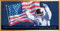 "Explorers:Space Exploration, Alan Bean Signed Large ""Just the Beginning"" Print for theTwenty-fifth Anniversary of Apollo 11, in Framed Display. ..."