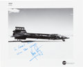 Autographs:Celebrities, Neil Armstrong Signed Original NASA Photo of the X-15A-3 Aircraft....