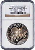 Explorers:Space Exploration, Apollo 13 Unflown NGC-Encapsulated PF64 Ultra Cameo Franklin MintSilver Medal Directly from the Personal Collection of Missio...