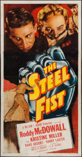 "Movie Posters:Drama, The Steel Fist (Monogram, 1952). Three Sheet (41"" X 79""). Drama....."