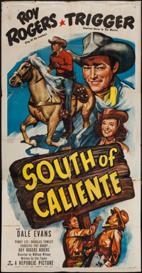 "South of Caliente (Republic, 1951). Three Sheet (41"" X 79""). Western"