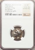 Ancients:Greek, Ancients: LUCANIA. Metapontum. Ca. 330-290 BC. AR stater (19mm,7.92 gm, 2h)....