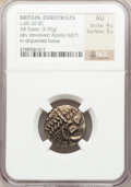 Ancients:Celtic, Ancients: BRITAIN. Durotriges. Ca. 65-45 BC. Pale AV stater (19mm,5.90 gm, 4h)....