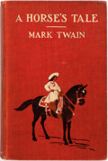 Books:Literature 1900-up, Mark Twain. A Horse's Tale. New York: Harper & Brothers,1907. First edition, first printing. Publisher's red printe...