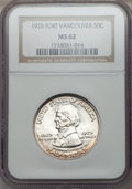 Commemorative Silver: , 1925 50C Vancouver MS62 NGC. NGC Census: (112/1977). PCGSPopulation (199/2721). Mintage: 14,994. Numismedia Wsl. Pricefor...