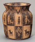 American Indian Art:Baskets, A YAVAPAI PICTORIAL COILED JAR. c. 1920...