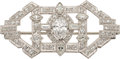 Estate Jewelry:Brooches - Pins, Art Deco Diamond, Platinum, White Gold Brooch. ...