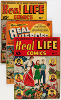 Golden Age (1938-1955):Non-Fiction, Real Heroes/Real Life Comics Group (Various Publishers, 1940s-50s)Condition: Average VG/FN.... (Total: 8 Comic Books)