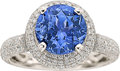 Estate Jewelry:Rings, Color Change Sapphire, Diamond, White Gold Ring. ...