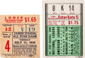 Baseball Collectibles:Tickets, 1938-39 All-Star Ticket Stubs Including Lou Gehrig's Final All-StarGame....